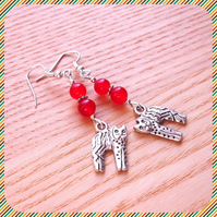 Red Kitty Cat Earrings