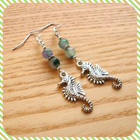 Mottled Seahorse Earrings