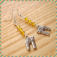 Yellow Kitty Cat Earrings