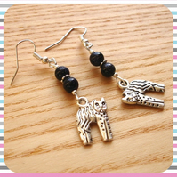 Earrings Midnight Kitty Cat
