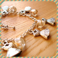 Little White Dress Charm Bracelet