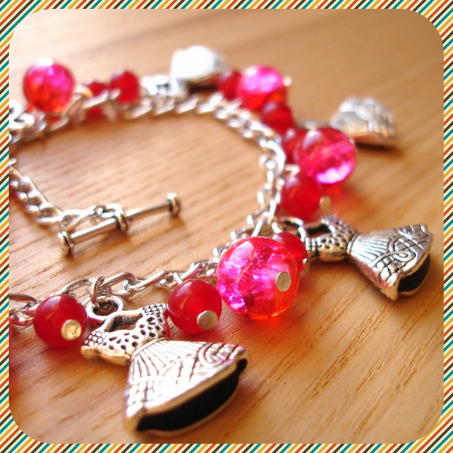 Charm Bracelet with Little Pink Dress