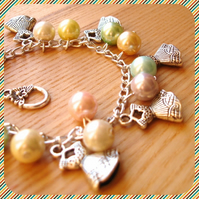 Pearly Dress Charm Bracelet