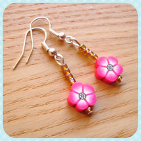 Flower FIMO Bead Earrings Jewellery