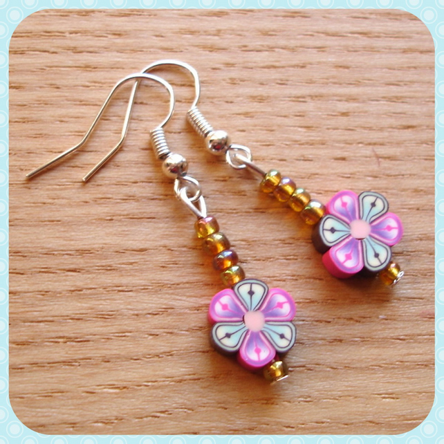 Flower Polymer Clay Earrings Jewellery