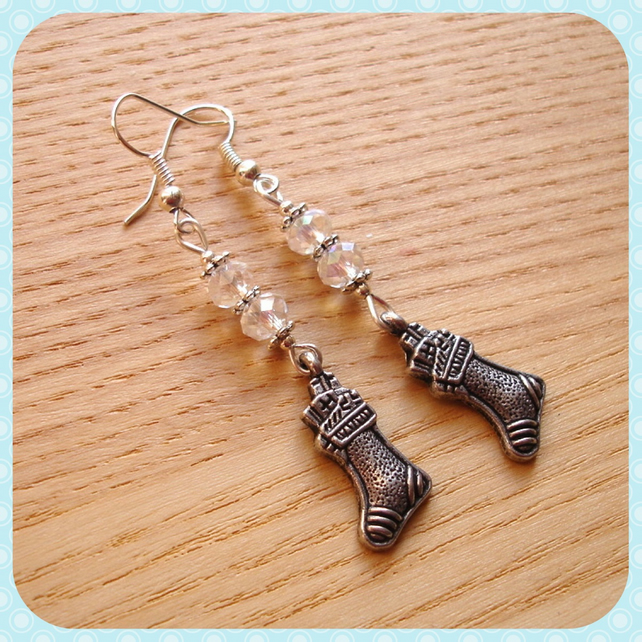 Christmas Stocking Charm Earrings