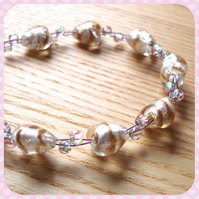 Stripey Heart Bead Bracelet