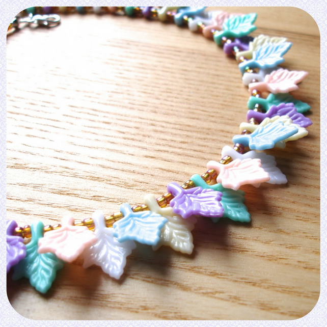 Leaf Flutter Bead Necklace