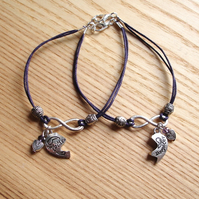 Mother and Daughter Infinity Bracelet Set