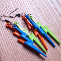Bright and Funky Lightning Bolt Earrings