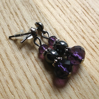 Sparkly Magnetic Hematite and Crystal Bead Earrings