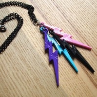 Bright and Funky Lightning Bolt Pendant