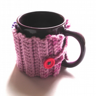 Cup Cozy in Pink and Purple - Mug Cover, Cosy, Case, Sweater, Jumper