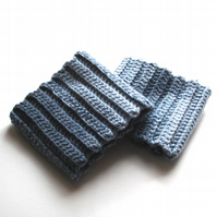 Chunky Grey Hand Crocheted Boot Cuffs Gift for Her - Warm Fashion Accessory