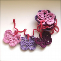 Crochet Butterfly Garland - Fabric Bunting - Home Decor - Nursery Decoration