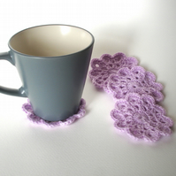 Crochet Coaster set of 4 - Fabric Coaster - Gift for the Home - Home Decor