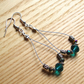 Beautiful Blue Sparkle Crystal Loop Bead Earrings, Gorgeous Gift for Her