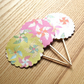 Windmill Cupcake Toppers in Pink, Yellow and White, Pack of 30