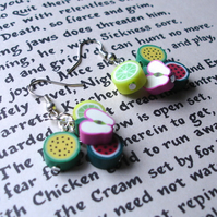 Fruit Salad Polymer Clay Cluster Earrings