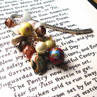 Bookmark Earth Tones Bead Cluster