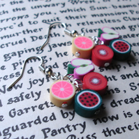 Juicy Fruits Polymer Clay Cluster Earrings
