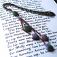 Bookmark with Cascade of Green and Pink Agate Beads