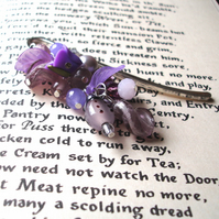 Bookmark with Lilac Bead Cluster