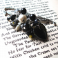 Bookmark Black and White Bead Cluster Mermaid