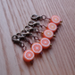 Cute Orange Crochet Stitch Markers