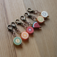 Cute Fruit Crochet Stitch Markers