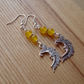 Yellow Man in the Moon Charm Earrings