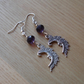 Purple Man in the Moon Charm Earrings