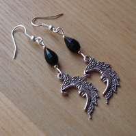 Black Man in the Moon Charm Earrings