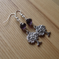 Purple Crystal Tree of Life Charm Bead Earrings Gift for Her Valentines
