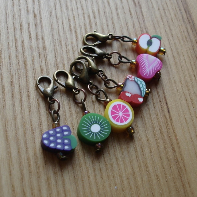 Cute Fruit Crochet Stitch Markers, Cute Gift for Crocheter