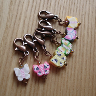 Cute Butterfly Crochet Stitch Markers, Cute Gift for Crocheter
