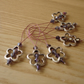 Large Pink and Purple Crystal Flower Bead Knitting Stitch Markers pack of 6