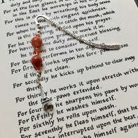 Eiffel Tower Orange Agate Bookmark