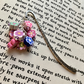 Polymer Clay Flower Cluster Bookmark, Gift for Her, Mothers Day