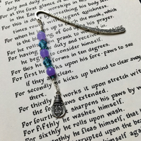 Purple and Turquoise Charm Bookmark, Gift for Her, Mothers Day