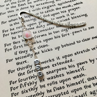 White Rose Bookmark, Gift for Her, Mothers Day