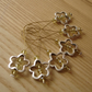 Large Crystal Flower Bead Knitting Stitch Markers pack of 6