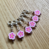 Cute Flower Crochet Stitch Markers, Cute Gift for Crocheter