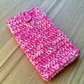 Hot Pink Marl Crochet Mobile iPhone 6 7 or 8 Plus Cozy with Button