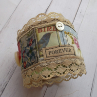 Vintage Style Fabric Cuff
