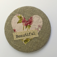 Personalised Linen Pocket Mirror