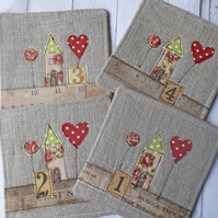 Set of 4 Linen Coasters