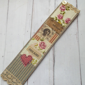 Gift Boxed Linen Bookmark