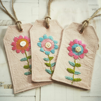 Fabric Gift Tags set of three