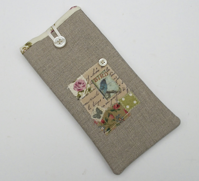 Glasses Case - Linen - Bird